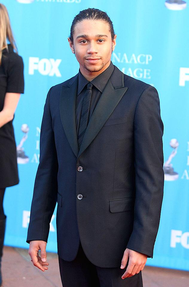 "We barely recognize ""High School Musical's"" Corbin Bleu without his trademark afro. Jason Merritt/<a href=""http://www.filmmagic.com/"" target=""new"">FilmMagic.com</a> - February 14, 2008"