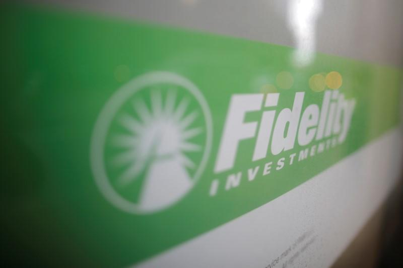 FILE PHOTO: A sign marks a Fidelity Investments office in Boston