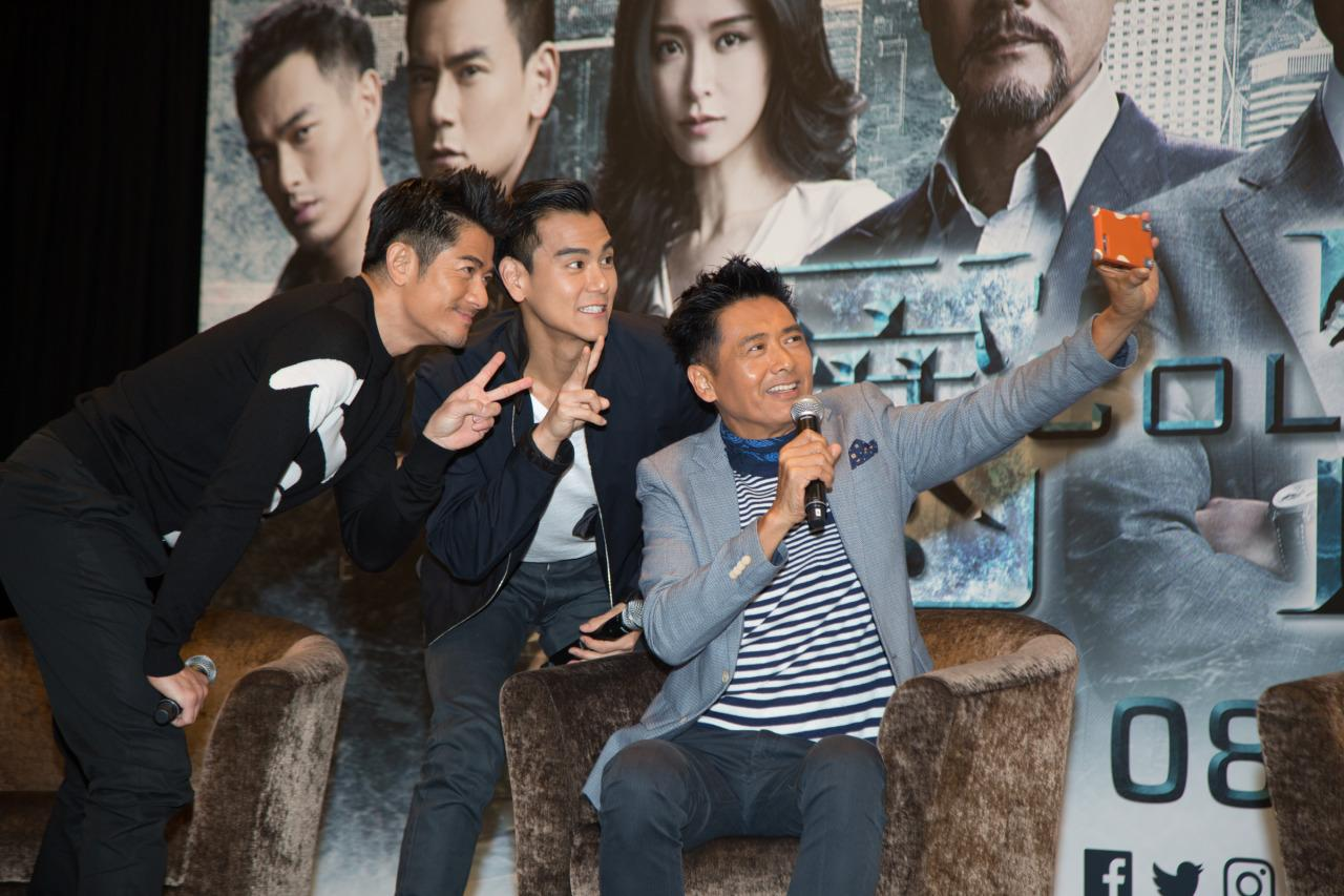 """With an illustrious career in film and television spanning over 40 years, Hong Kong actor Chow Yun Fat is generally considered to be screen royalty. But the showbiz veteran also has another title to his name – the """"king of selfies""""."""