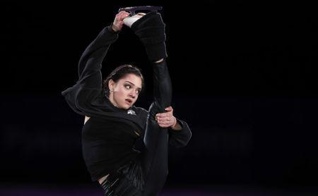 FILE PHOTO: Figure Skating - Pyeongchang 2018 Winter Olympics - Gala Exhibition - Gangneung Ice Arena - Gangneung, South Korea - February 25, 2018 - Evgenia Medvedeva, Olympic Athlete from Russia, performs. REUTERS/John Sibley