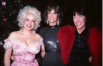 <p>Dolly Parton, Jane Fonda, and Lily Tomlin attend the film premiere of <em>9 to 5.</em></p>