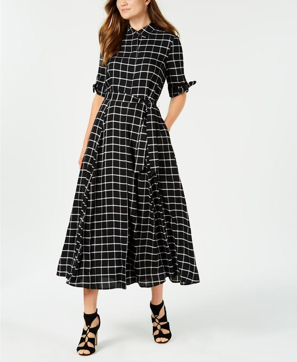 """<br><br><strong>Calvin Klein</strong> Plaid Maxi Shirtdress, $, available at <a href=""""https://www.macys.com/shop/product/calvin-klein-plaid-maxi-shirtdress?ID=6615238&CategoryID=5449#fn=PRICE%3D69