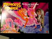 """<p>He-Man's twin sister was a badass, and collectors are still keen on She-Ra. The original action figure in-box, packaged alongside her horse, was recently <a href=""""https://www.ebay.com/itm/PRINCESS-OF-POWER-SHE-RA-AND-SWIFT-WIND-GiftSet-9400-Box-Has-Wear-Mattel-New-/272598376407?oid=291145396380"""" rel=""""nofollow noopener"""" target=""""_blank"""" data-ylk=""""slk:listed at $1,500"""" class=""""link rapid-noclick-resp"""">listed at $1,500</a>, although <a href=""""http://www.ebay.com/sch/Action-Figures-/246/i.html?_from=R40&_nkw=she+ra+action+figure&_sop=16"""" rel=""""nofollow noopener"""" target=""""_blank"""" data-ylk=""""slk:individual action figures"""" class=""""link rapid-noclick-resp"""">individual action figures</a> and accessories sell more in the range of $150 - $600. </p>"""