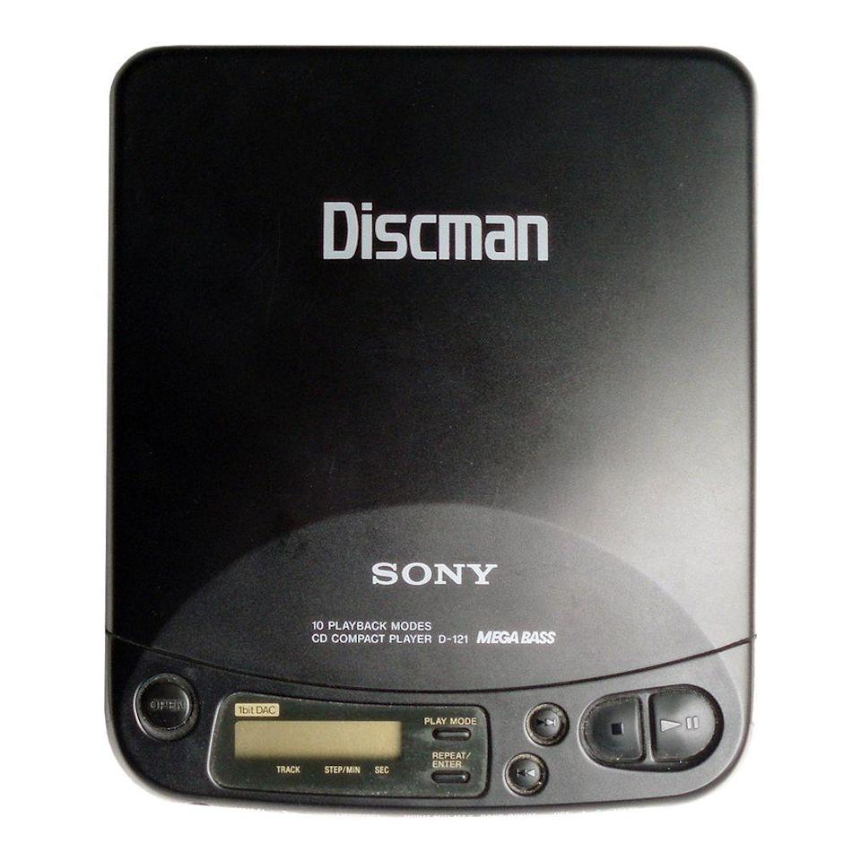 "<p><a class=""link rapid-noclick-resp"" href=""https://www.amazon.com/Sony-D191-Discman-Portable-Player/dp/B00001ZT4I?tag=syn-yahoo-20&ascsubtag=%5Bartid%7C10063.g.34738490%5Bsrc%7Cyahoo-us"" rel=""nofollow noopener"" target=""_blank"" data-ylk=""slk:BUY NOW"">BUY NOW</a><br></p><p>Shortly after CDs were being produced for the masses, the first Discman was designed by Sony. The ability to listen to compact discs on the go boosted the sales of CDs even more, which allowed more titles to become available. Kids these days wouldn't even know what a CD Walkman (the name that was used starting in the '90s) looks like today. With all the digital music and streaming services, stores like <a href=""https://www.billboard.com/articles/business/8097929/best-buy-to-pull-cds-target-threatens-to-pay-labels-for-cds-only-when"" rel=""nofollow noopener"" target=""_blank"" data-ylk=""slk:Best Buy"" class=""link rapid-noclick-resp"">Best Buy</a> no longer sell physical CDs.</p>"