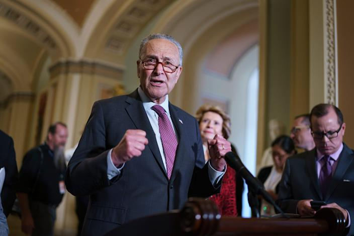 Senate Majority Leader Chuck Schumersays the proposed new spendingputs the Biden administration close to fulfilling its infrastructure and family agendas.