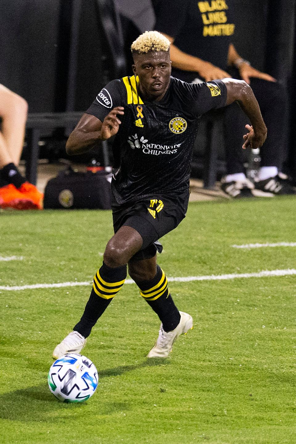 Gyasi Zardes has scored 47 combined regular-season and playoff goals for the Columbus Crew.