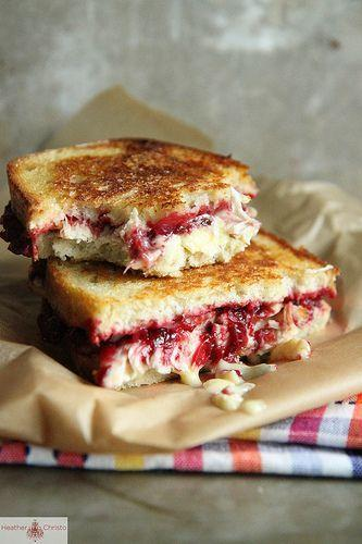 """<p>Now you know what to do with your Thanksgiving leftovers.</p><p>Get the recipe from <a href=""""http://heatherchristo.com/cooks/2012/11/21/roasted-turkey-cranberry-and-brie-grilled-cheese/"""" rel=""""nofollow noopener"""" target=""""_blank"""" data-ylk=""""slk:Heather Christo"""" class=""""link rapid-noclick-resp"""">Heather Christo</a>.</p>"""