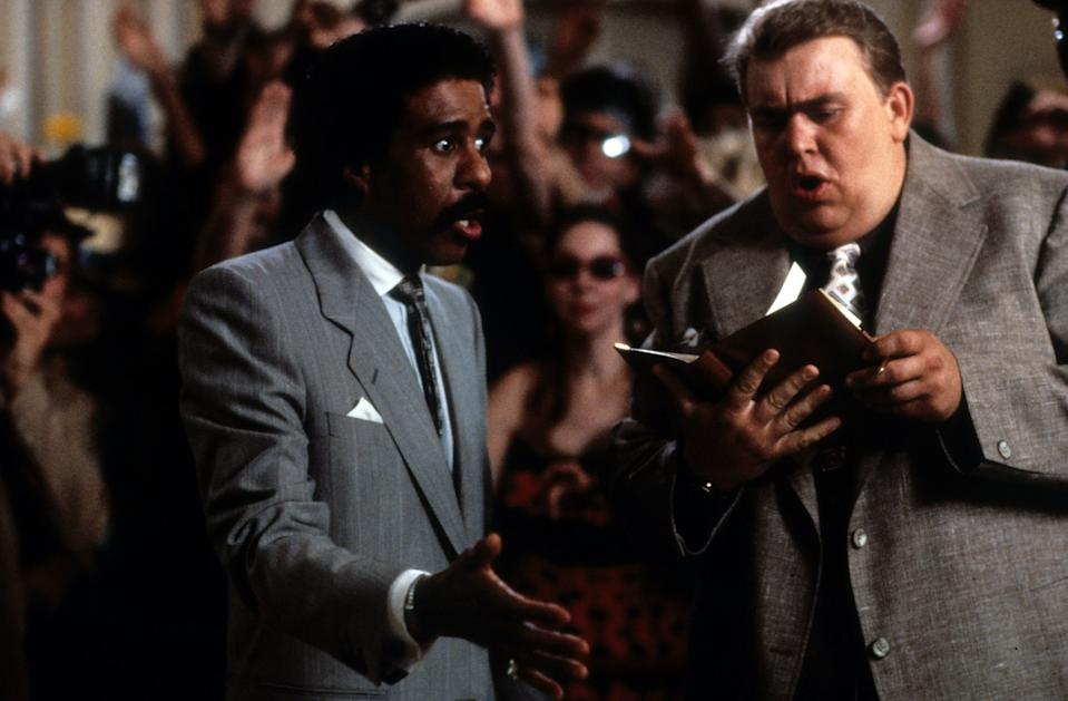 Richard Pryor and John Candy in a scene from the film 'Brewster's Millions', 1985. (Photo by Universal Pictures/Getty Images)