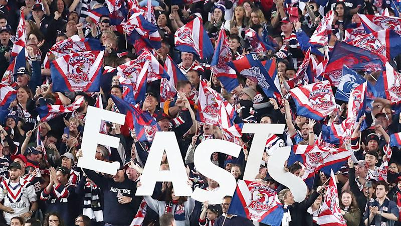 Pictured here, Roosters fans pack the stands at Sydney's ANZ Stadium.