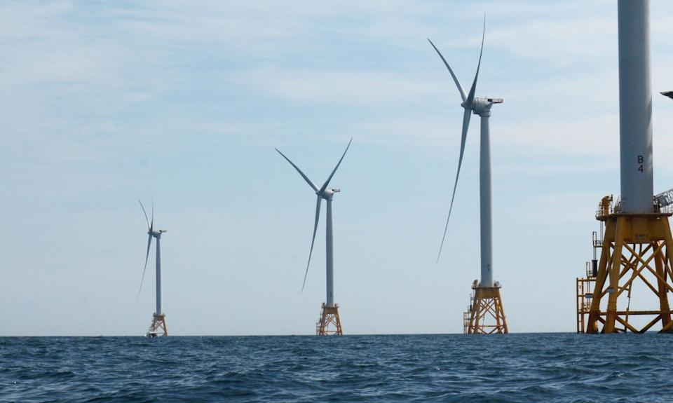 A photo of the Deepwater Wind offshore wind farm at Block Island on Aug. 14, 2016. (Photo: Newsday LLC via Getty Images)