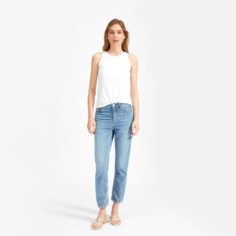 """<br><br><strong>Everlane</strong> The Super-Soft Relaxed Jean, $, available at <a href=""""https://go.skimresources.com/?id=30283X879131&url=https%3A%2F%2Fwww.everlane.com%2Fproducts%2Fwomens-summer-jean-vintagelightblue%3Fcollection%3Dwomens-jeans"""" rel=""""nofollow noopener"""" target=""""_blank"""" data-ylk=""""slk:Everlane"""" class=""""link rapid-noclick-resp"""">Everlane</a>"""