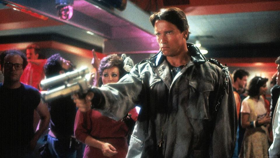 <p> Low budget, high concept – The Terminator borrows from oodles of genres to tell a love story set in a world of machines. James Cameron's 1984 flick cast Arnold Schwarzenegger as the eponymous character, a cyborg sent back in time to kill Sarah Connor (Linda Hamilton) the mother of future resistance leader, John. The resistance sends her a protector in the form of Kyle Reese (Michael Biehn), who will do anything to keep her safe. </p> <p> The Terminator, of course, put James Cameron on the map, proving his skills at world-building, character development, and genre were exceedingly good. While its sequel had the bigger budget, it's impressive to witness the ingenuity of the production, giving us a tightly-plotted thriller with some of the best '80s set pieces. </p>