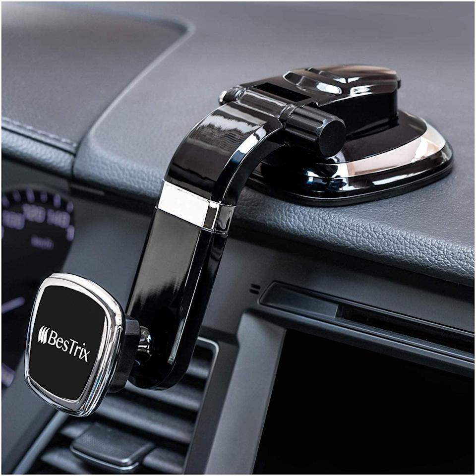 <p>Easily look at directions on your phone with this <span>Magnetic Dashboard Smartphone Car Mount</span> ($20).</p>