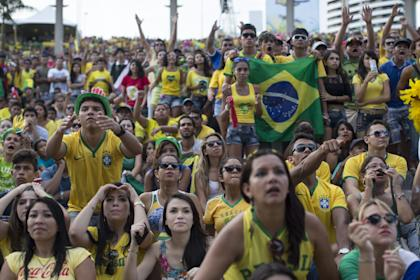 Fans of the Brazilian football team hope to celebrate another World Cup title soon. (Getty)
