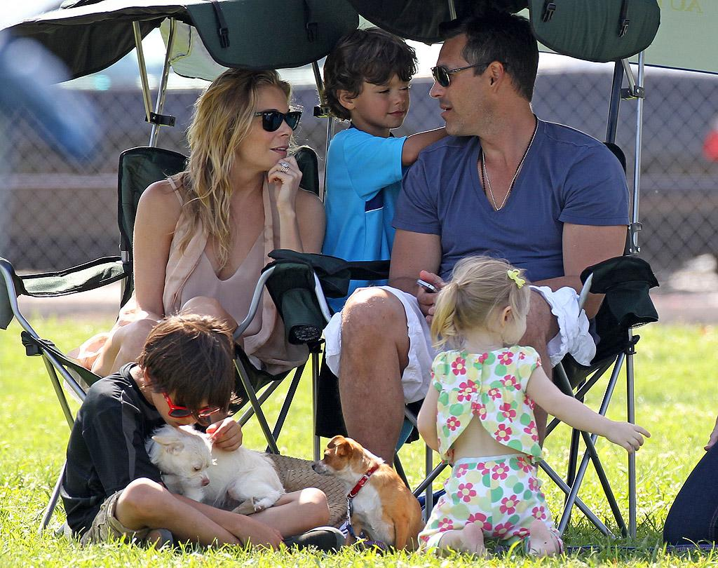 "Eddie Cibrian and LeAnn Rimes camped out on the sidelines of his 5-year-old son Jake's soccer game in Los Angeles on Sunday. The actor's ex-wife, ""Real Housewives of Beverly Hills"" star Brandi Glanville, was also there for the match, but reportedly kept her distance from the couple because Cibrian recently banned her from letting their two sons appear on her Bravo series. (5/6/2012)"