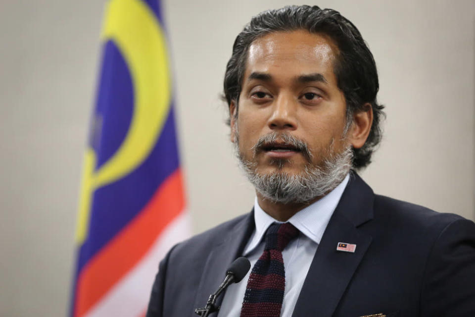 Science, Technology and Innovation Minister Khairy Jamaluddin told reporters at Parliament today that the manufacturing facilities belong to Pharmaniaga and Duopharma Biotech Berhad. — Picture by Yusof Mat Isa