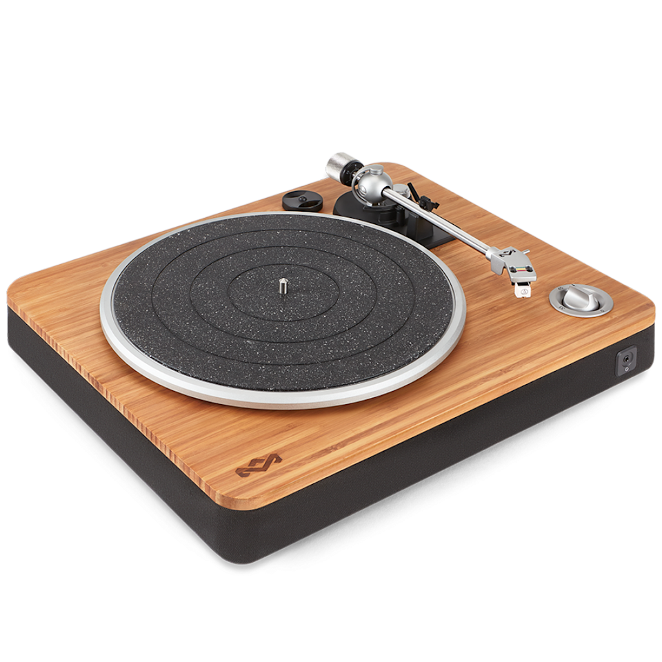 "<p><strong>House of Marley </strong></p><p>thehouseofmarley.com</p><p><strong>$200.00</strong></p><p><a href=""https://www.thehouseofmarley.com/turntable/stir-it-up-turntable.html"" rel=""nofollow noopener"" target=""_blank"" data-ylk=""slk:Shop Now"" class=""link rapid-noclick-resp"">Shop Now</a></p><p>Enjoy music, responsibly, with an eco-conscious record player sourced from bamboo. </p>"