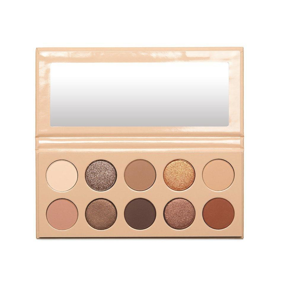"""Take it from Kim Kardashian West herself: Having options when it comes to neutral eye shadow is important. The extension of her first neutral palette, the KKW Beauty <a href=""""https://www.allure.com/story/kkw-beauty-classic-2-eyeshadow-palette-nude-lip-gloss-kim-kardashian?mbid=synd_yahoo_rss"""" rel=""""nofollow noopener"""" target=""""_blank"""" data-ylk=""""slk:The Classic II"""" class=""""link rapid-noclick-resp"""">The Classic II</a> Eye Shadow Palette, proves it with a brand-new selection of golds and beiges, plus warm and cool brown tones."""