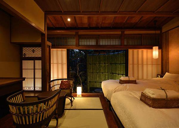 ▲Usuzakura Twin Bedroom. 2 persons, 23,000 yen each plus tax on weekdays, 2 meals included.