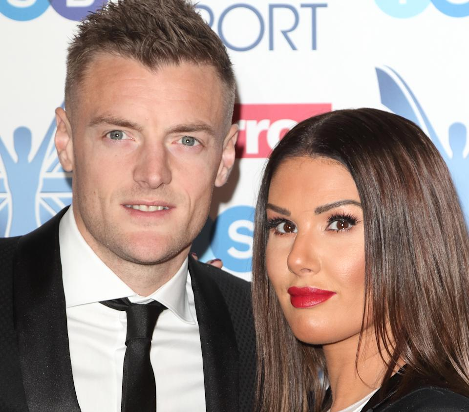LONDON, UNITED KINGDOM - 2018/12/06: Jamie Vardy and Rebekah Vardy at The Mirror Pride of Sport Awards at Grosvenor House in Park Lane. (Photo by Keith Mayhew/SOPA Images/LightRocket via Getty Images)