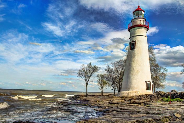 A lighthouse in Marblehead, Ohio