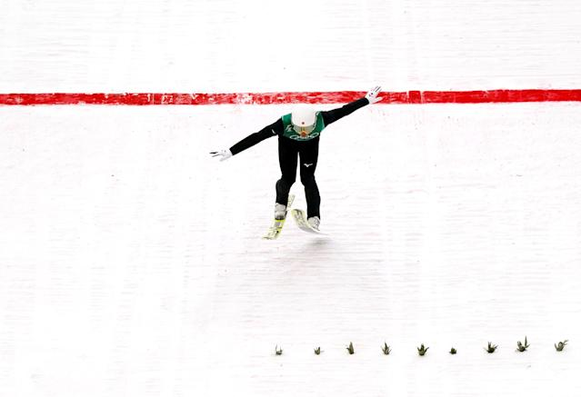 Nordic Combined Events - Pyeongchang 2018 Winter Olympics - Men's Team Gundersen LH Competition - Alpensia Ski Jumping Centre - Pyeongchang, South Korea - February 22, 2018 - Go Yamamoto of Japan competes. REUTERS/Kai Pfaffenbach TPX IMAGES OF THE DAY