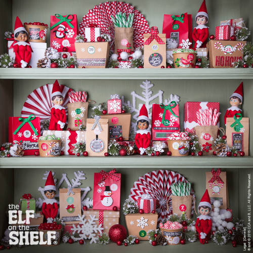 """<p>Why limit the fun to just one Elf? Invite the whole crew with this advent-style décor idea, in which several elves are hidden within gift-filled, numbered packages.</p><p><strong>Get the tutorial at <a href=""""https://elfontheshelf.com/elf-ideas/counting-down-days/"""" rel=""""nofollow noopener"""" target=""""_blank"""" data-ylk=""""slk:Elf on the Shelf"""" class=""""link rapid-noclick-resp"""">Elf on the Shelf</a>.</strong></p>"""