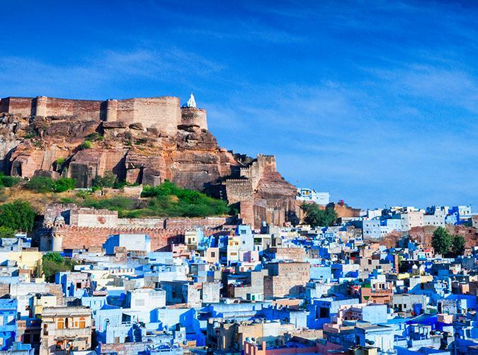 <p>Fans of the film <em>The Fall</em> may recognize this blue city and the impressive fort above it. There is a lot to explore in Jodhpur, the historical capital of the Kingdom of Marwar, including many palaces, temples, forts and, of course, the winding paths of blue buildings set within the Thar Desert.</p>