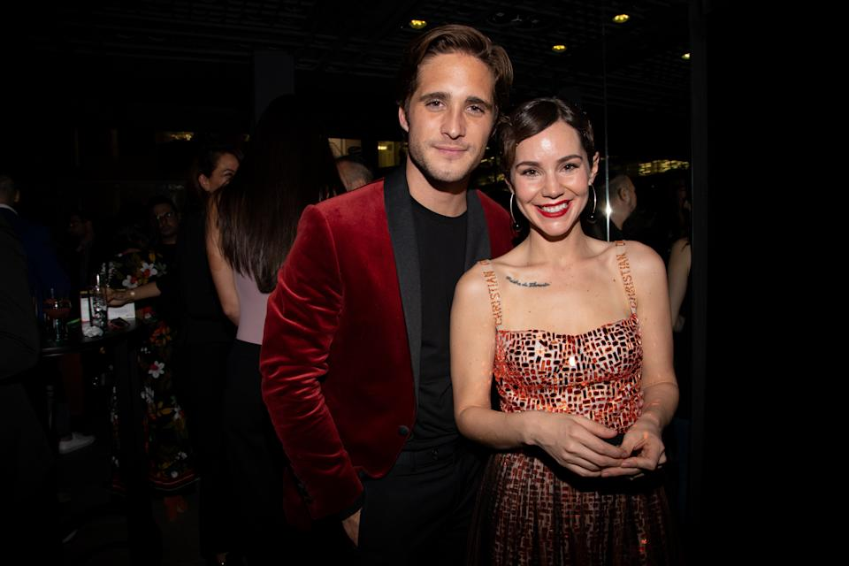 MEXICO CITY, MEXICO - APRIL 17: Diego Boneta and Camila Sodi pose during the Netflix Luis Miguel Premiere Party at Cinemex Antara on April 17, 2018 in Mexico City, Mexico.  (Photo by Victor Chavez/Getty Images)
