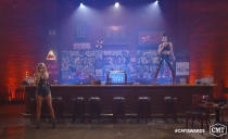 "In this video image provided by CMT, Kelsea Ballerini, left, and Halsey perform ""The Other Girl"" during the Country Music Television awards airing on Wednesday, Oct. 21, 2020. (CMT via AP)"