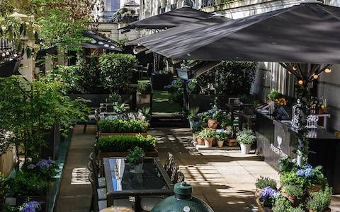 The Secret Herb Garden at the Royal Horseguards Hotel London