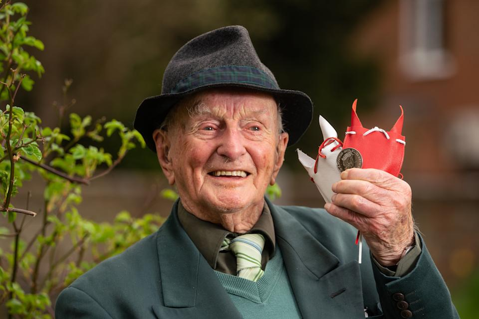 Malcolm Cloutt from Princes Risborough is among this years recipients of Maundy money. (PA Images)