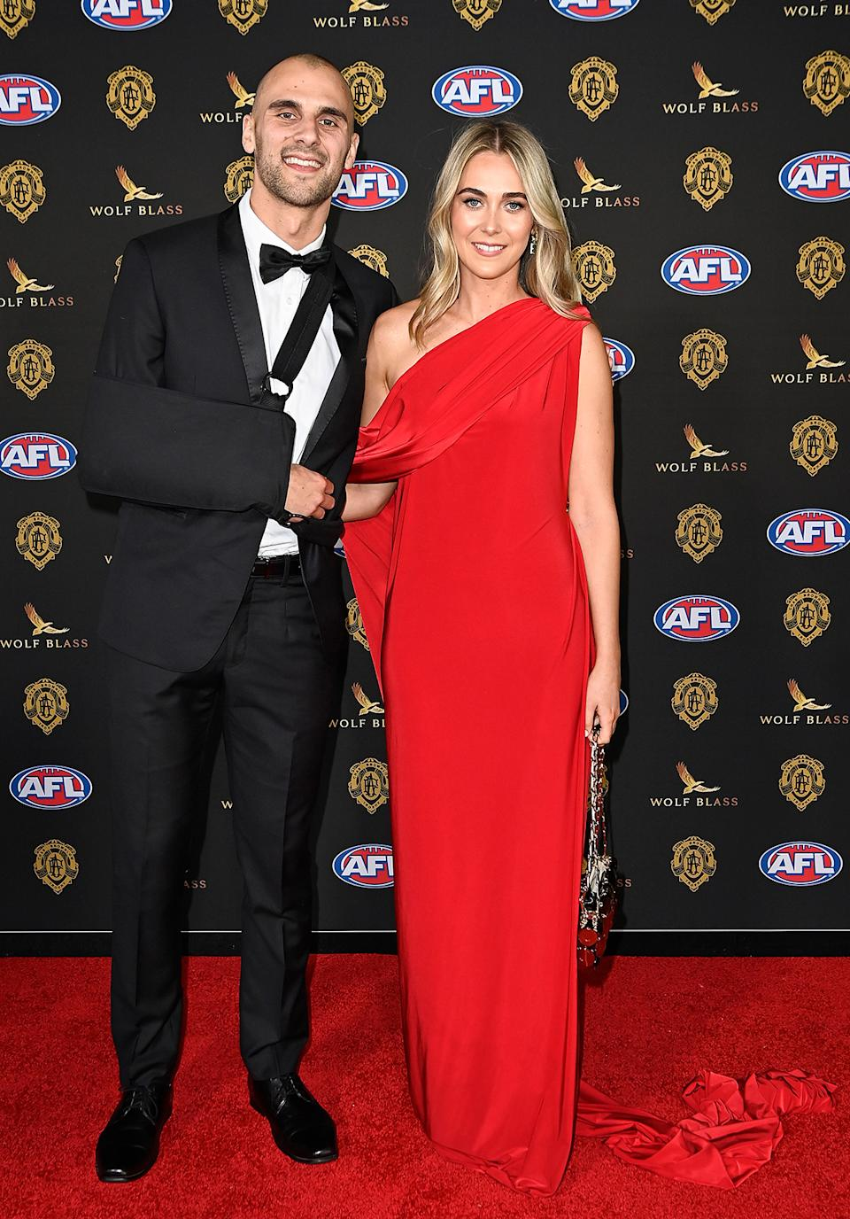 Dom Sheed and Brooke Parker at the Brownlow Medal 2021