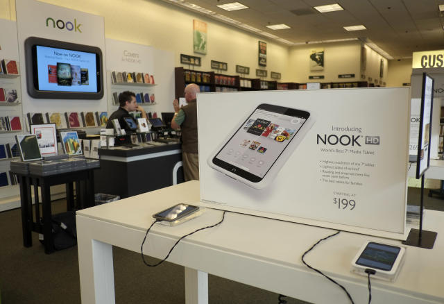A section dedicated to Nook inside a Barnes & Noble store (AP)