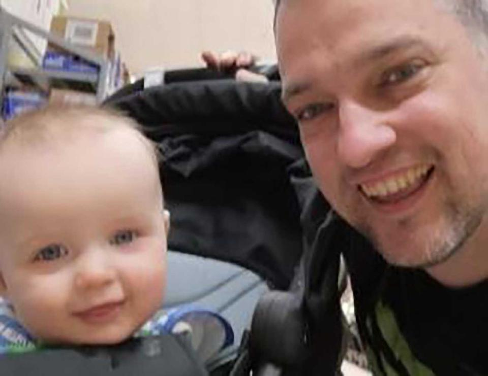 David Louden is pictured with his son Harrison.