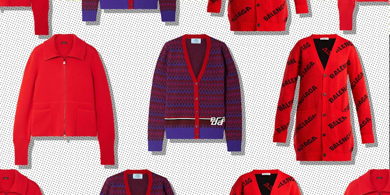 """<p>When Prada, <a rel=""""nofollow"""" href=""""https://www.net-a-porter.com/gb/en/"""">Balenciaga, Christopher Kane and Gucci</a> all agree that cardigans are a thing, then we dutifully agree. For a couple of seasons now designers have begun to re-embrace the humble cardi and we're not at all mad about it.</p><p>About as comfy and practical as a garment can get, the least a cardigan can do is <a rel=""""nofollow"""" href=""""https://www.elle.com/uk/autumn-winter-fashion/"""">keep you warm</a>, whilst at most, it transforms you into a kind of chic, french librarian. </p><p>So, if continental, sexy intellectualism is the look you are going for, then read on.</p>"""