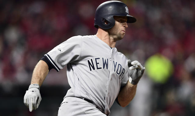 Brett Gardner came through with the series-sealing hit against the Indians. (AP)