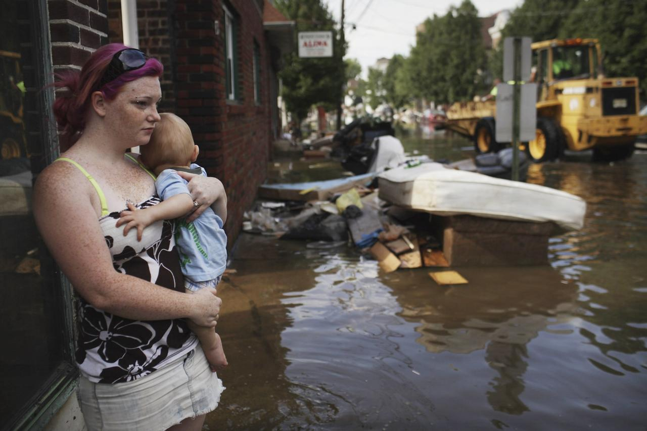 Hurricane Irene, which hit the Mid-Atlantic coast in the summer of 2011, resulted in economic damage of $14.3 billion.
