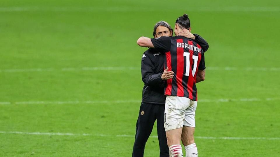 Inzaghi e Ibrahimovic | SOPA Images/Getty Images