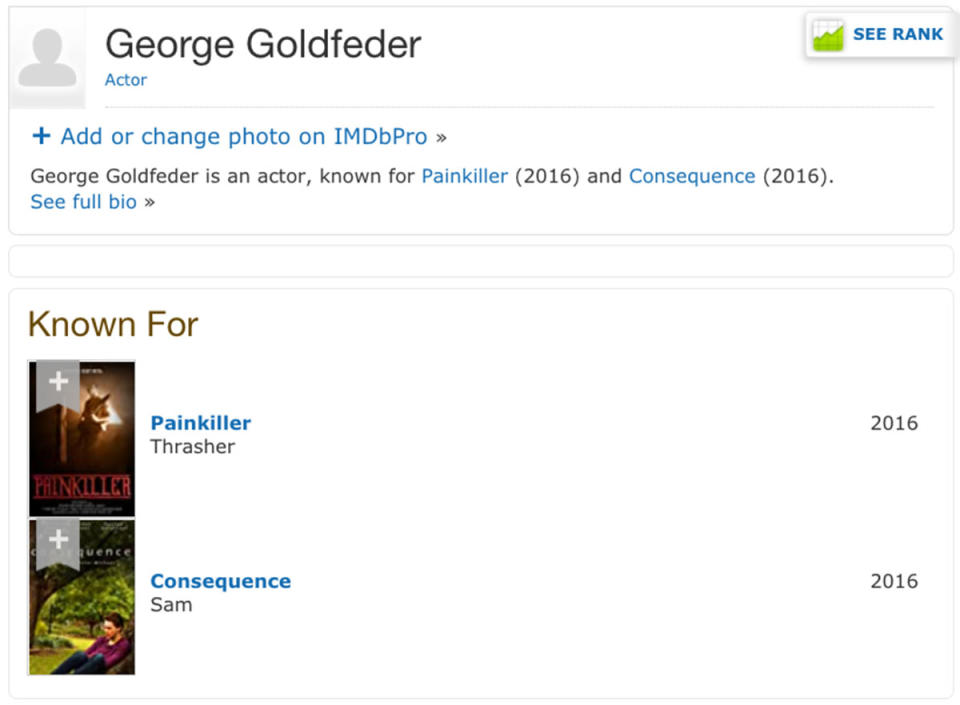 Beauty and the Geek contestant George Goldfeder's IMDb page
