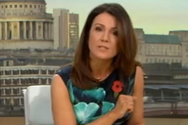 Emotional plea: Susanna Reid spoke to the parents of Megan Lee in their first live TV interview (ITV)