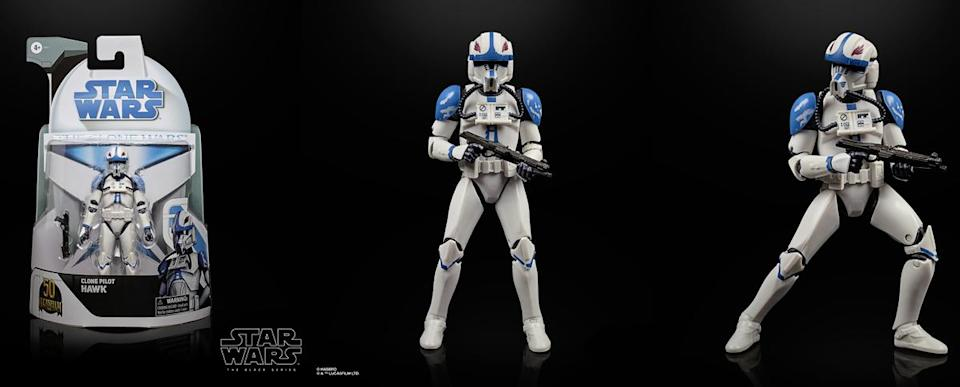 Clone pilot Hawk of the 501st gets his own Black Series figure.