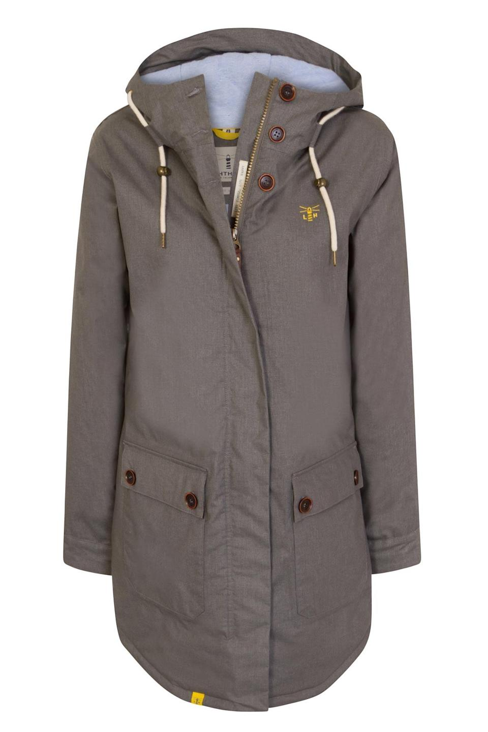 """<p>£110, <a rel=""""nofollow noopener"""" href=""""https://www.lighthouseclothing.co.uk/collections/womens-raincoats-jackets/products/florence-waterproof-breathable-warm-mid-thigh-parka-grey"""" target=""""_blank"""" data-ylk=""""slk:Lighthouse"""" class=""""link rapid-noclick-resp"""">Lighthouse</a>. </p>"""