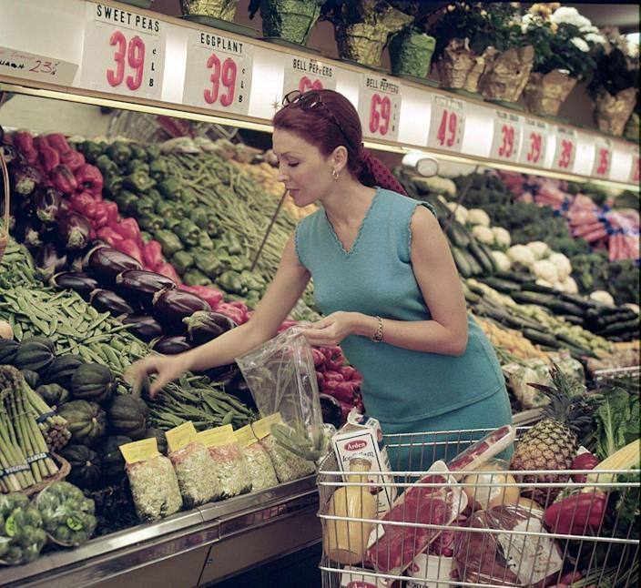 """<p>By the '70s, people were over canned and plastic-wrapped veggies and the push towards organic began. By the end of the decade, Whole Foods <a href=""""http://omgfacts.com/these-vintage-photos-show-the-history-of-the-supermarket/"""" rel=""""nofollow noopener"""" target=""""_blank"""" data-ylk=""""slk:opened its first location"""" class=""""link rapid-noclick-resp"""">opened its first location</a> and we all know how that turned out. </p>"""