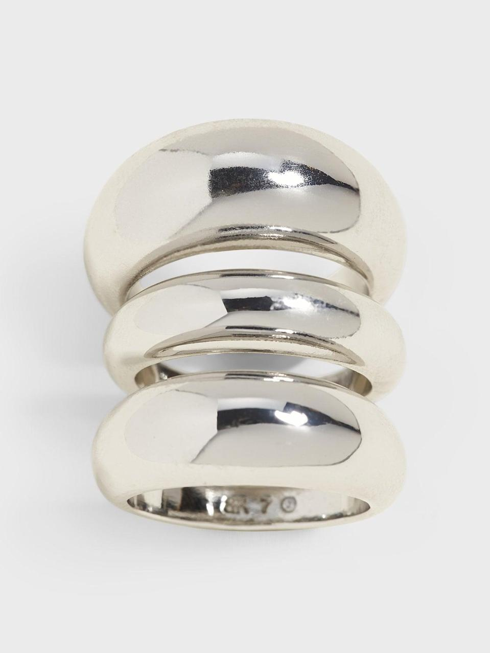 <p>Same goes for your finger with a great <span>Banana Republic Chunky Ring Set</span> ($58) that takes the guesswork out of mixing and matching a ring set.</p>