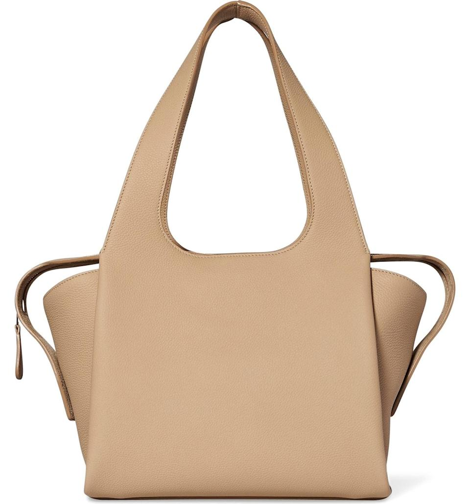 <p>We have an obsession with all things The Row, and this sand <span>The Row TR1 Leather Shoulder Bag</span> ($2,650) is dreamy. It's the perfect bag for every outfit, and we are fully in love.</p>