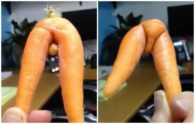 No matter what the angle, this carrot looks pretty suss. Photo: Facebook