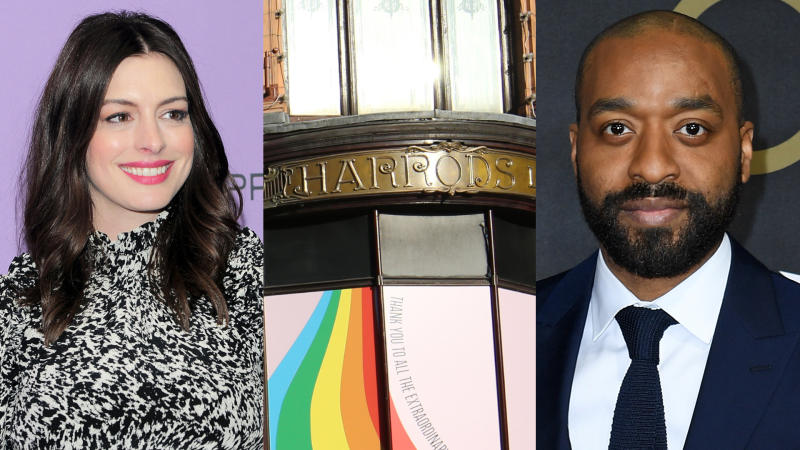 Anne Hathaway and Chiwetel Ejiofor set for Harrods heist film 'Lockdown'. (Credit: Owen Hoffman/Netflix/Jonathan Brady/Gareth Cattermole/PA/Getty)