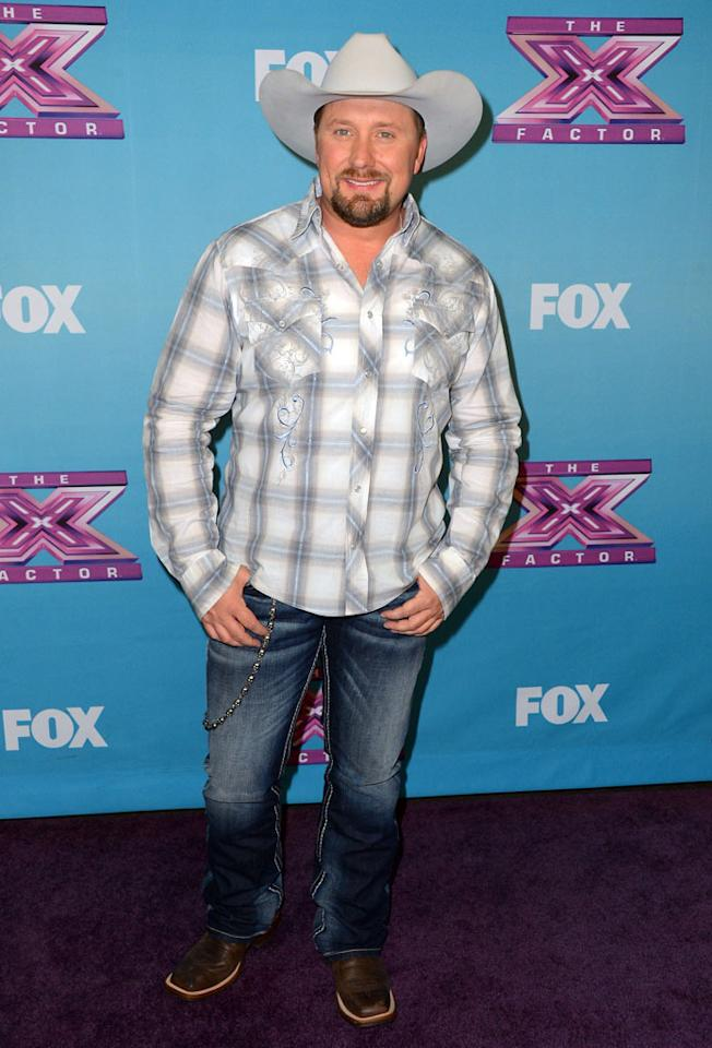 "Tate Steven arrives at Fox's ""The X Factor"" Season Finale Night 1 at CBS Televison City on December 19, 2012 in Los Angeles, California."