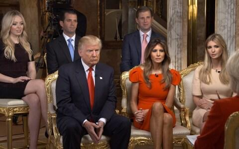 The Trumps during an interview on the US television program 60 Minutes in 2016 - Credit: CBS via Getty Images